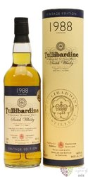 "Tullibardine 1988 "" Vintage Collection "" Single malt Highland whisky 40% vol.0.70 l"