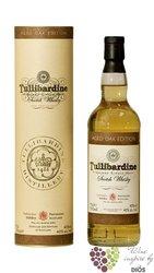 "Tullibardine "" Aged oak edition "" Single malt Highland whisky 40% vol.    0.70 l"