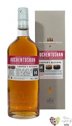 "Auchentoshan "" Cooper´s reserve "" aged 14 years single malt Lowland whisky 46% vol.  0.70 l"