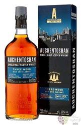 "Auchentoshan "" Three wood "" triple distilled single malt Lowland whisky 43% vol.  0.70 l"
