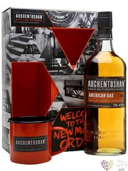 "Auchentoshan "" American oak "" gift set single malt Lowland whisky 40% vol. 0.70l"