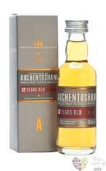 Auchentoshan 12 years old triple distilled single malt Lowland whisky 40% vol. 0.05 l