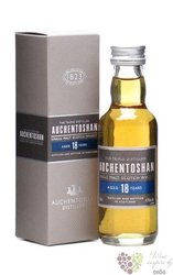 Auchentoshan 18 years old triple distilled single Lowland whisky 43% vol.  0.05l