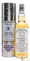"Auchentoshan 2000 "" Signatory Unchillfiltered "" aged 18 years Lowland whisky 46% vol.  0.70 l"