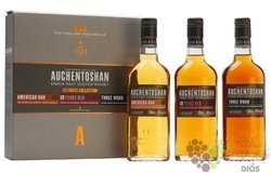 "Auchentoshan "" US oak & 12years & Three wood "" collection of Lowland whisky 40%vol.  3x0.20l"