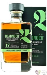 Bladnoch 17 years old single malt Lowlands Scotch whisky 46.7% vol.  0.70 l