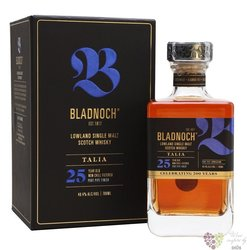 "Bladnoch "" Talia "" aged 25 years single malt Lowlands Scotch whisky 48.4% vol.0.70 l"