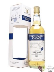 "Rosebank 1990 "" Connoisseurs choice "" Lowland whisky by Gordon & MacPhail 43% vol.   0.70 l"