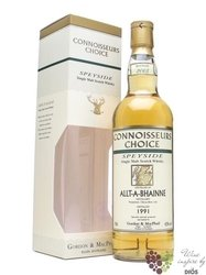 "Allt A´Bhainne 1996 "" Gordon & MacPhail Connoisseurs choice "" aged 14 years whisky 43% vol.   0."