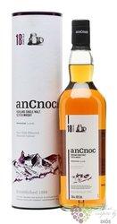 anCnoc 18 years old single malt Speyside whisky 46% vol.      0.70 l
