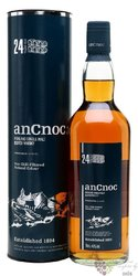 anCnoc 24 years old single malt Speyside whisky 46% vol.  0.70 l