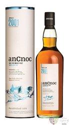 anCnoc 2001 single malt Speyside whisky 46% vol.  0.70 l