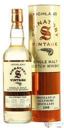 "Aultmore "" Signatory Vintage 2008 "" aged 10 years Speyside whisky 43% vol.  0.70 l"