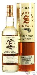"Aultmore 2008 "" Signatory Vintage "" aged 10 years Speyside whisky 43% vol.  0.70 l"