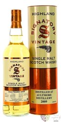 "Aultmore "" Signatory Vintage 2009 "" aged 10 years Speyside whisky 43% vol.  0.70 l"