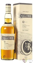 Cragganmore 12 years old single malt Speyside whisky 40% vol.    1.00 l
