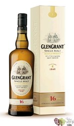 Glen Grant 16 years old single malt Speyside Scotch whisky 40% vol.    1.00 l