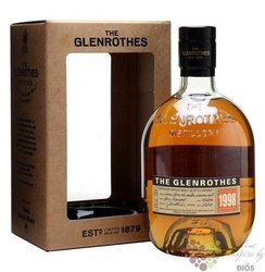 "Glenrothes 1998 "" Vintage reserve "" single malt Speyside whisky 43% vol.   0.70l"