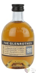 Glenrothes 1991 single malt Speyside whisky 43% vol.  0.10 l