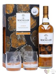 "Macallan 1824 series "" Amber "" glass set Speyside single malt whisky 40% vol.  0.70 l"