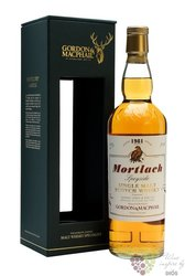 "Mortlach 1981 "" Rare vintage of Gordon & MacPhail "" Speyside whisky 43% vol   0.70 l"