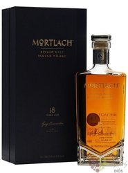 Mortlach aged 18 years single malt Speyside whisky 43.4% vol.  0.50 l