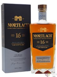 "Mortlach "" Distiller´s dram "" aged 16 years single malt Speyside whisky 43.4% vol.  0.70 l"