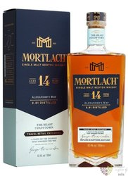 "Mortlach "" Alexander´s way "" aged 14 years single malt Speyside whisky 43.4% vol.  0.70 l"