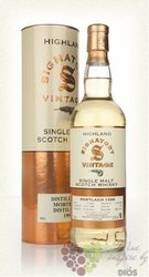 "Mortlach 1998 "" Signatory vintage "" aged 13 years single malt Speyside whisky 43% vol   0.70 l"
