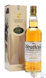"""Strathisla 1963  """" Rare vintage of Gordon & MacPhail """" Speyside whisky 43% vol.0.70 l"""