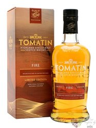 "Tomatin Five Virtues Series "" Fire "" single malt Speyside whisky 46% vol.  0.70l"