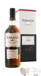 "Tomatin 1992 "" Single cask collection "" Speyside single malt whisky 53,9% vol.0.70 l"