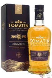 "Tomatin "" American oak casks "" aged 15 years single malt Speyside whisky 43% vol.  0.70 l"
