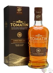 Tomatin aged 18 years Speyside single malt whisky 46% vol.     0.70 l