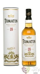 Tomatin aged 18 years Speyside single malt whisky 43% vol.     0.70 l