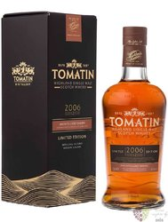"Tomatin 2006 "" Amontillado sherry cask "" 12 years old Speyside single malt whisky 46% vol.  0.70l"