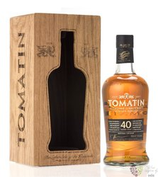 Tomatin aged 40 years single malt Speyside whisky 43% vol.  0.70 l