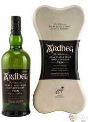 "Ardbeg the Ultimate "" TEN the Bone box "" aged 10 years Islay whisky 46% vol.  0.70 l"