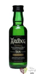 "Ardbeg "" TEN "" aged 10 years single malt Islay whisky 46% vol.   0.05 l"
