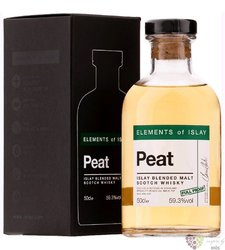 """Elements of Islay """" Peat - Full Proof """" blended malt Highlands whisky 59.3% vol.  0.50 l"""