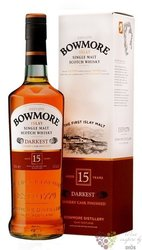 "Bowmore "" Darkest "" aged 15 years single malt Islay whisky 43% vol.  0.70 l"