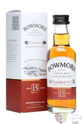 "Bowmore "" Darkest "" aged 15 years single malt Islay whisky 43% vol.    0.05 l"