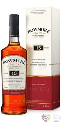 Bowmore 15 years old single malt Islay whisky 40% vol.  0.70 l