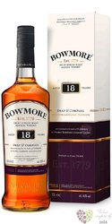 Bowmore 18 years old single malt Islay whisky 43% vol.   0.70 l
