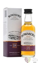 Bowmore 18 years old single malt Islay whisky 43% vol.   0.05 l
