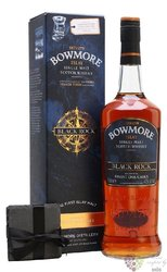 "Bowmore "" Black Rock "" gift set single malt Islay whisky 40% vol.  1.00 l"