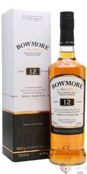 Bowmore 12 years old single malt Islay whisky 40% vol.  0.70 l