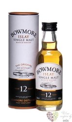 Bowmore 12 years old single malt Islay whisky 40% vol.   0.05 l