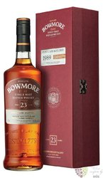 "Bowmore 1989 "" Port Cask Matured "" aged 21 years single malt Islay whisky 50.8%vol.    0.70 l"