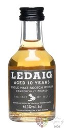 Ledaig 10 years old single malt Scotch Island Mull whisky 46.3% vol.   0.05 l